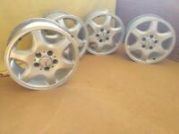 """16"""" Genuine Mercedes wheels in Standard Silver – Alloy - Part No A2084010502"""