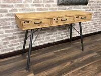Retro Industrial Console Table/Desk