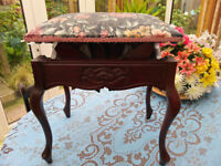 Antique Wood Piano Adjustable Stool