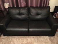 Leather Two Seater Sofa Bed