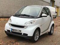 2009 SMART FORTWO 0.8 DIESEL AUTOMATIC CDI PASSION BUILT IN SATNAV COUPE WHITE MOT NOT AYGO FOR TWO
