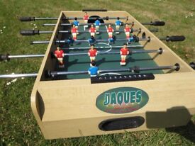 Table football game, made by Jaques. 95cms x 51cms x20cms