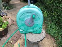 Hozelock,hose reel with all brackets, good condition