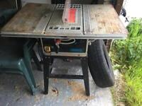 Draper bench saw and weights