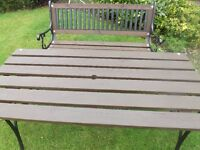 Cast Iron Park Style Bench with table