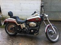 Harley Davidson FXST Softail Deuce (2002 plate, twincam)