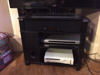 TV stand with speakers