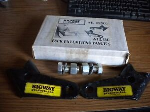 NOS Bigway Products Fork Extensions Yamaha Tri Moto YT125 Honda ATC110 3 Wheeler