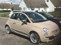 Fiat 500 lounge FSH 1 lady owner -63 plate upgraded version!