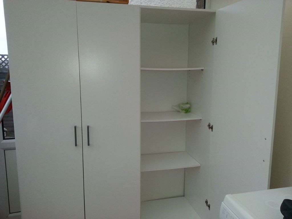ikea domb s wardrobe white size 140x181 cm 8 months old. Black Bedroom Furniture Sets. Home Design Ideas