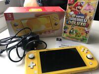 Nintendo Switch and Super Mario game