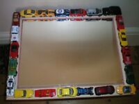Mirror with Colourful CARS on Frame