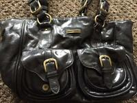 Designer bag by Pierre Cardin Black Leather