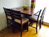 Dinning table and 4 high chairs
