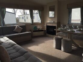 Modern Double Glazed Central heated family holiday home 36x12 pitch fees included , SALE !!