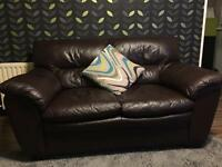 Two seater leather sofa /can deliver