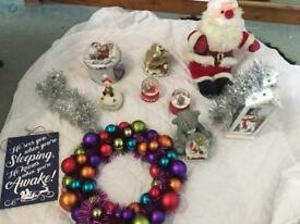 Christmas ornaments and other items