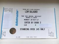 Liam Gallagher standing ticket in hand SSE BELFAST