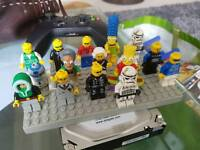 Large box full of lego and mini figures
