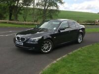 MAY 2007, BLACK BMW 5 SERIES 520 SE, 155,000 MILES, 10 MONTHS MOT