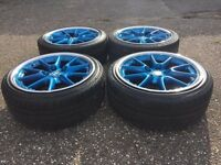 RTS alloy wheels, 5x120, split rims, BMW e46 e36 with tyres