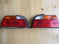 PAIR BMW E36 Coupe / Convertible 3 Series Amber Rear Light Assemblies ~ EXCELLENT COND 07739 329 389