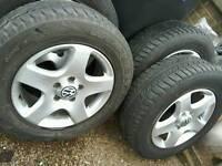 Volkswagen touareg alloys and tyres 235 65 17
