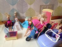 Fab Barbie dolls and accessories bundle with freebies