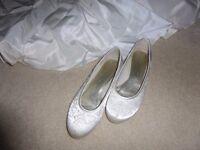 Ivory Wedding Shoes - Size 7