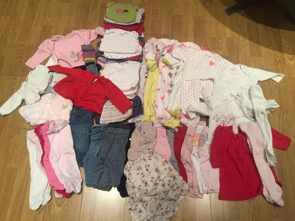 REDUCED - Baby Girl Bundle 3-6 months (Carters', Next, Zara, Gap and H&M)