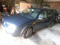 vw golf mk4 1.9tdi breaking