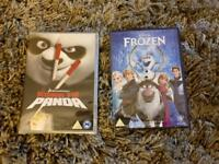 2 x new sealed DVDs frozen and Kung Fu Panda