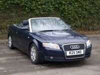 2008 Audi A4 Cabriolet 2.0 TDI Diesel 2door blue convertible long Mot Manual hpi clear
