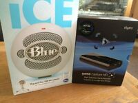 Blue Snowball iCE microphone & Elgato game capture recorder