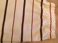 1 pair full-length curtains. Each curtain 220 cm long x 225 cm wide, fully lined.