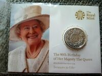 The 90th Birthday of Her Majesty The Queen 2016 UK £20 Fine Silver Coin