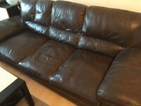 Leather 3 seater Dfs sofa&leather care products free