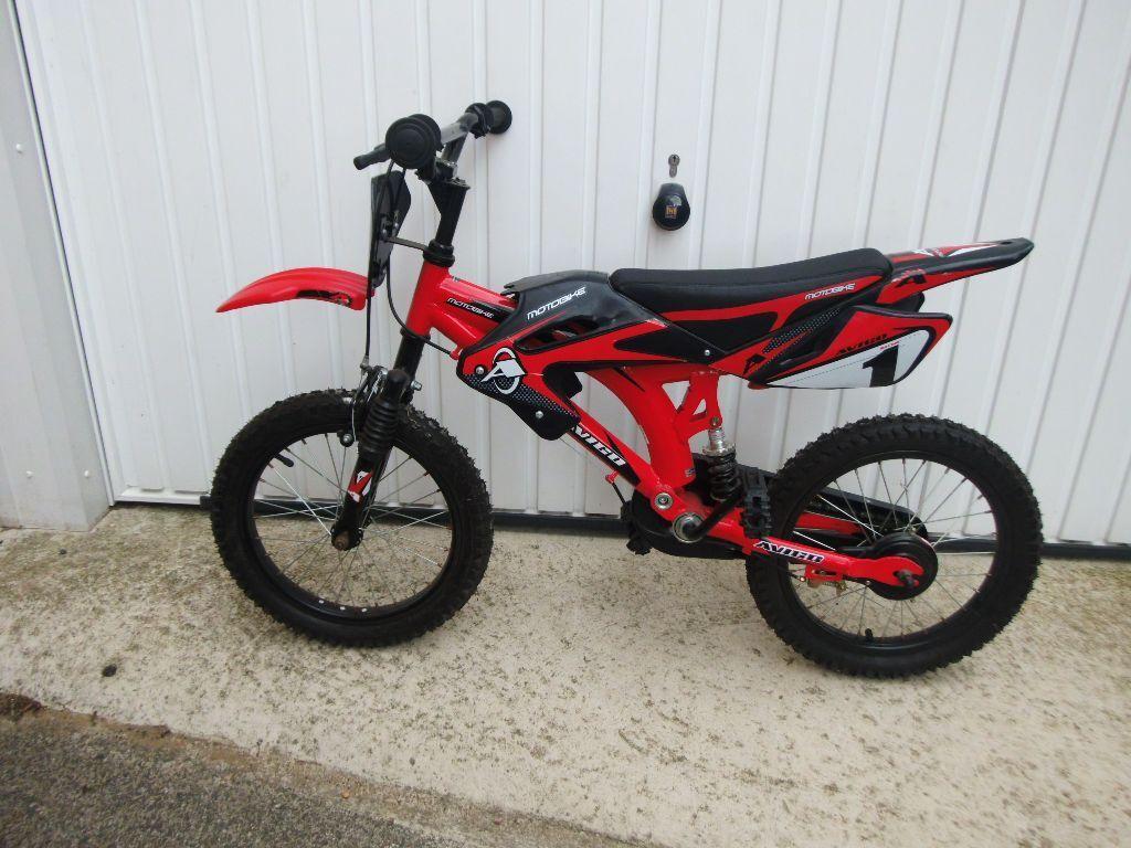 Toys R Us Bikes : Toys r us avigo boys motorbike style bike in wakefield