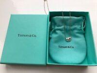 Tiffany Necklace - Genuine Tiffany & Co. Tiffany Elsa Peretti Bean Pendant in Sterling Silver