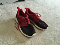 Black and Red Nike trainers