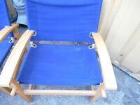 Set of blue garden chairs