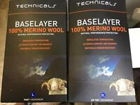 Technicals merino wool base layer x2