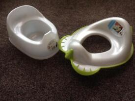 Potty and child's toilet training seat