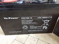 2 x 12 Volt batteries 100AH