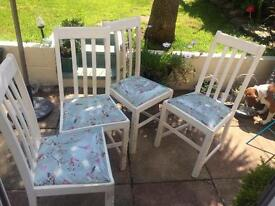 Shabby chic dining chairs ,