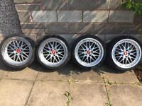"BMW BBS LM 5X120 19"" STAGGERED £400 ONO"