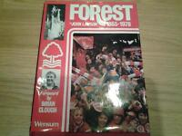 signed book on nottingham forest by john lawson from 1865 to 1978