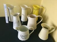 Tin jugs for wedding or party