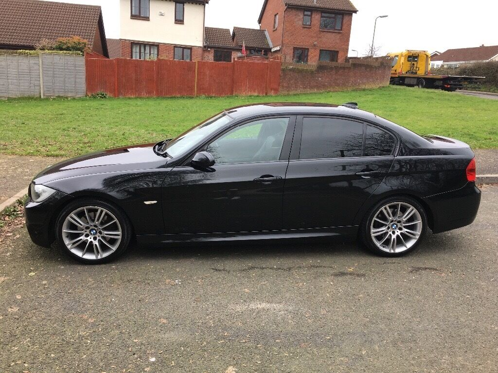 bmw 320d m sport black full leather full service history 2008 3 series diesel in honiton. Black Bedroom Furniture Sets. Home Design Ideas
