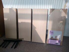 4 x floating shelves